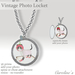 (Caroline's Jewelry) Vintage Photo Locket (Silver)