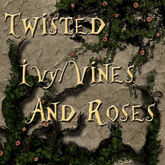~TTT~ Twisted Rustic Ivy, Vines & Roses On Alpha Background1