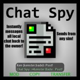 Chat Spy / Local Chat to IM Script
