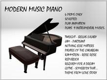 Modern music Piano  SCULPTED