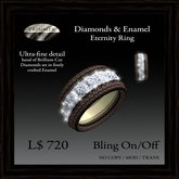 Diamonds & Enamel Eternity Ring by Trimmer Bay