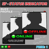 SF - 1PRIM ONLINE OFFLINE STATUS INDICATOR / PAGER
