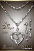 Diamond Heart Necklace by EarthStones Love Always Set - Diamond/Platinum