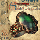 """(Transferable) """"Foy Porter"""" Ring, Emerald+Bronze (Promo price only $99!)"""
