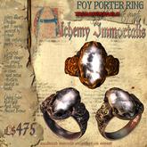 "(Transferrable) ""Foy Porter"" Unisex Ring, White Quartz (3 different metals)"