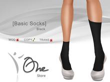 :: One Store :: [Basic Socks] Black