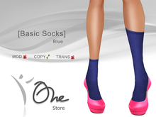 :: One Store :: [Basic Socks] Blue