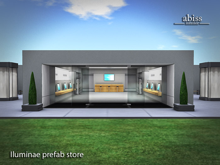 Iluminae shop by Abiss - retail commerce structure