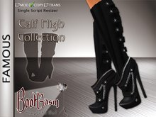 Bootgasm Famous Leather Calf High Boots Black LIMITED TIME PROMOTIONAL SALE