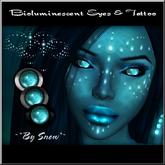 ~*By Snow*~ Bioluminescent Eyes & Tattoo