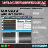 LIVE AUCTION RESERVATION SYSTEM   LIVE AUCTION MANAGER   LIVE AUCTION RENTAL SYSTEM