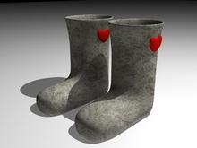 Felt boots HEART(Mesh)