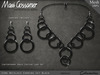 Fashion Esme Necklace Plus Earrings - BLACK