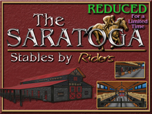 "Riders Equine Stable ""The Saratoga"" - Copy/Mod Rez and Go or Customize & Build to Suit. Horse, Racing- Barn, Ranch, Farm"