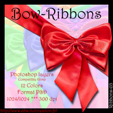 Bow ribbons PSD 03