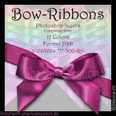 Bow ribbons-PSD 01