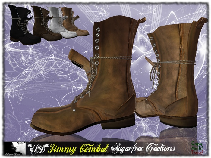 **SD** JIMMY Military Boots Open ( Box ) Full Options Multicolor