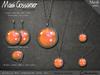 Necklace Giselle Opal Set - Hot Tangerine