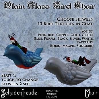 Schadenfreude Glass Bird Chair