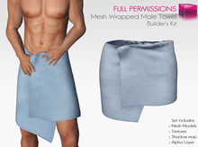 Full Perm Mesh Rigged - Body Wrapped Male Towel - Builder's Kit