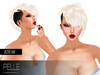 Pelle - Jacky blonde light flexy hair with base