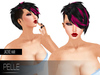 Pelle - Jacky black and fuxia  flexy hair with base