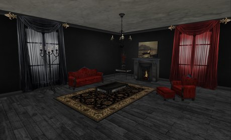 Second Life Marketplace - Victorian Goth Living Room ...