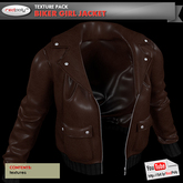 FULL PERMISSIONS Biker Girl Jacket - Brown Textures Pack made by RedPoly