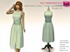 MESH Female Green Blue Peach Sleeveless Round Neck Polka Dots Retro Dress Wide Waistband
