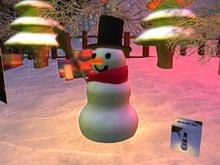 A Sculpted Snowman (Snow maker)