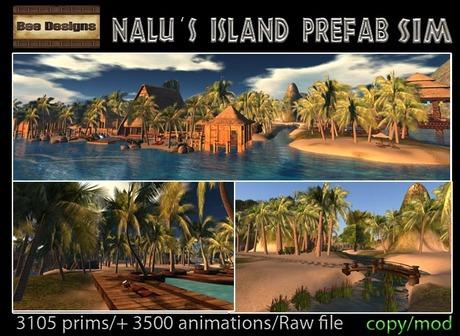 20K OFF PROMO- Nalu's Island Prefab Sim- A whole  sim in a box
