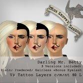 Darling Mr. Betty (Half Man Half Woman) Facepaint by Miss Shippe's Studio