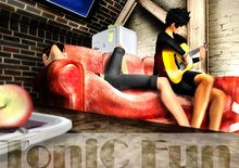 My guitar - pose