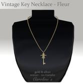(Caroline's Jewelry) Vintage Key Necklace - Fleur