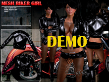 *Dafnis  BIKER JACKET DEMO BLACK