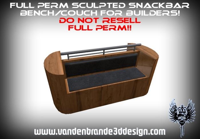 ~Full perm sculpted snackbar bench + sculptmaps and textures