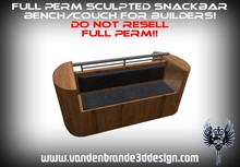 ~Full perm sculpted snackbar bench + sculptmaps and textures
