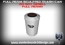 ~Full perm sculpted 1 prim Trash can / bin + Map and texture