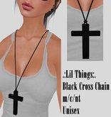 Black Cross Chain