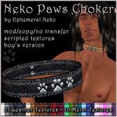 Ephemeral Neko - Neko Paws Choker (male)