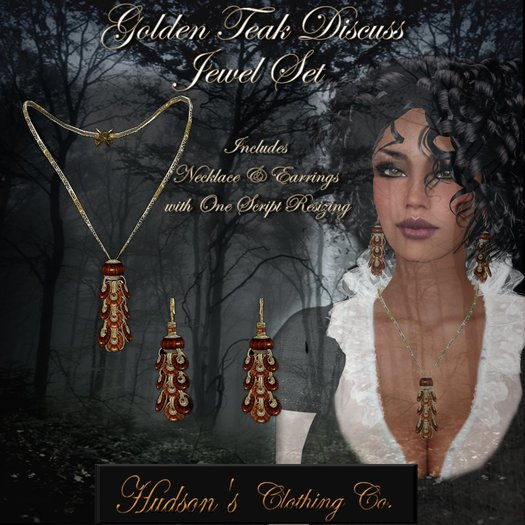 Teak Necklace and Earring set