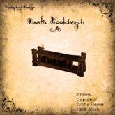 [DDD] Rustic Bookbench A