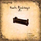 [DDD] Rustic Bookbench B - 100% Mesh Rustic Accessory