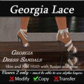 Georgia Sandal Heels - Lace white