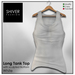 Shiver - Long Tank Top sculpted Bottom - White