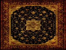 Rug Antic yellow brown