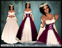 [Wishbox] The Fairest Maiden II (Magenta) - Renaissance Role Play Princess Gown Dress Chemise Medieval Fantasy
