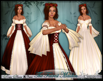 [Wishbox] The Fairest Maiden II (Red) - Renaissance Role Play Gown/Dress! Medieval Fantasy Valentine's Day / Christmas