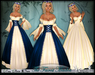[Wishbox] The Fairest Maiden II (Blue) -  Renaissance Role Play Princess Gown Dress Medieval Fantasy