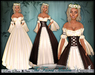 [Wishbox] The Fairest Maiden II (Chocolate Brown) - Renaissance Role Play Dress Gown Medieval Fantasy Pirate